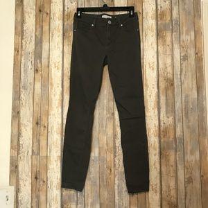 Ann Taylor loft dark gray jean leggings | 25